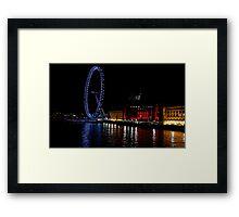 London eye at night Framed Print