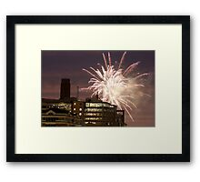 Fireworks over London Framed Print