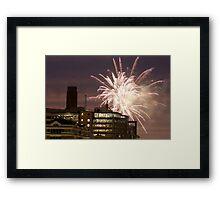Fireworks over London Framed Print