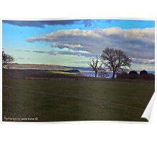Glimpse of Sea, County Antrim, Northern Ireland. Poster