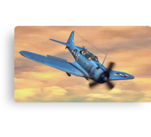 SBD Dive Bomber Canvas Print
