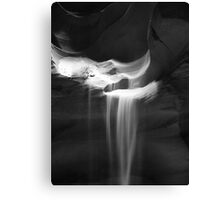 Flowing Sand in Antelope Canyon ~ Black & White Canvas Print