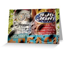Bubbly Budweiser Greeting Card