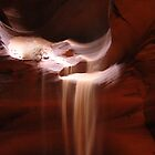 Flowing Sand in Antelope Canyon by Lucinda Walter