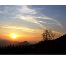 Castell Dynas Bran sunset Photographic Print