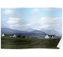 Isle of Skye just out of Kyleakin heading north Poster