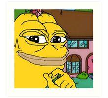 Homer Pepe Art Print
