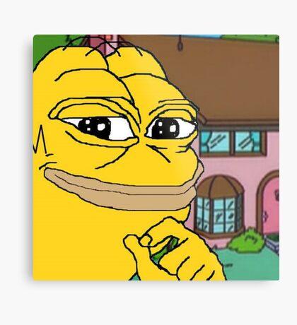Homer Pepe Metal Print
