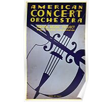 WPA United States Government Work Project Administration Poster 0404 American Concert Orchestra Federal Music Project Poster
