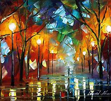 COLDER DAY - Original Art Oil Painting By Leonid Afremov by Leonid  Afremov