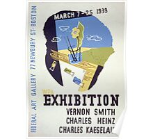 WPA United States Government Work Project Administration Poster 0095 Federal Art Gallery Exhibition Vernon Smith Charles Heinz Kaeselau Poster