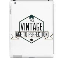 1953 VINTAGE. AGE TO PERFECTION. iPad Case/Skin