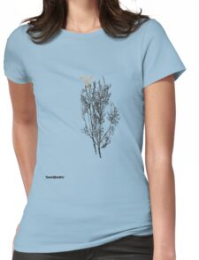 Bird in tree Womens Fitted T-Shirt