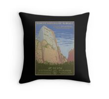 WPA United States Government Work Project Administration Poster 0018 Ranger Naturalist Service Zion National Park Throw Pillow