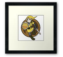 Smash Brothers Yellow Link Framed Print