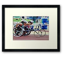 The Wheelchair Racers Framed Print