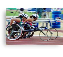 The Wheelchair Racers Canvas Print
