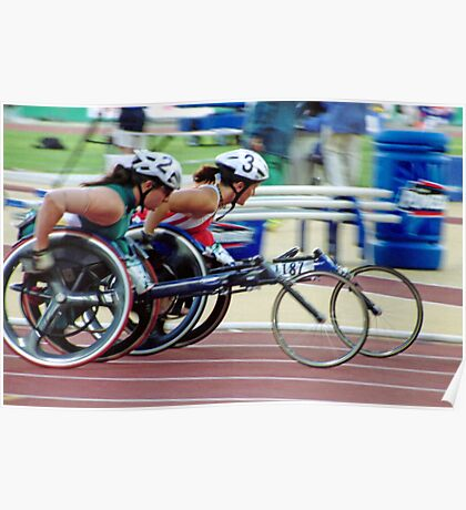 The Wheelchair Racers Poster