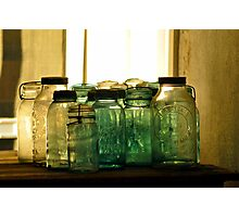 Old Glass Jars and Bottles Photographic Print