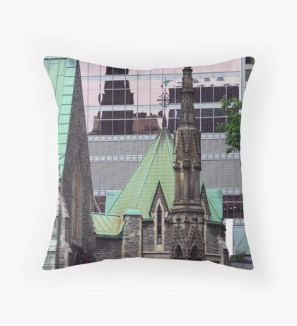 Down town Montreal Throw Pillow