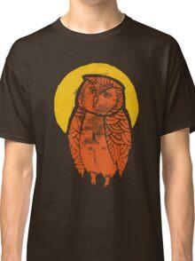 Owl Moon Linocut (dark tee) Classic T-Shirt