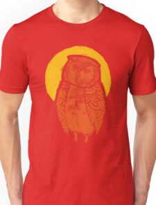 Owl Moon Linocut (dark tee) Unisex T-Shirt