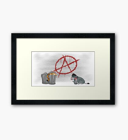 ANARCHY EEYORE Framed Print