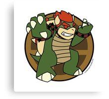 Smash Brothers Green Bowser Canvas Print