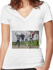 Bishop Justus School GCSE results students 2015 Women's Fitted V-Neck T-Shirt