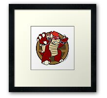 Smash Brothers Red Bowser Framed Print