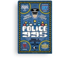 Blade Runner Police 995 Recruitment Poster Canvas Print
