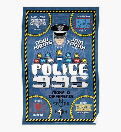 Blade Runner Police 995 Recruitment Poster Poster