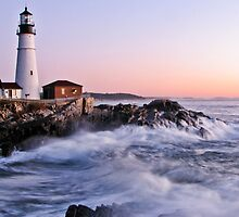 Sunrise At Portland Head Light- Cape Elizabeth, ME by Jason Gendron