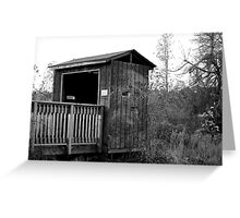 viewing shed Greeting Card