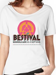 BESTIVAL SUMMER OF LOVE LABOR DAY MUSIC FESTIVAL Women's Relaxed Fit T-Shirt