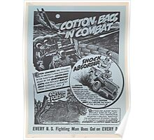 United States Department of Agriculture Poster 0153 Cotton Bags in Combay Every Fighting Man Uses Cotton Every Day Poster
