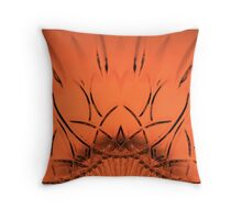Cut Glass Orange Throw Pillow