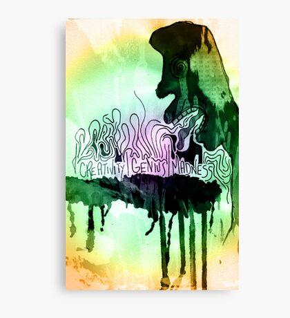 creativity   genius   madness Canvas Print