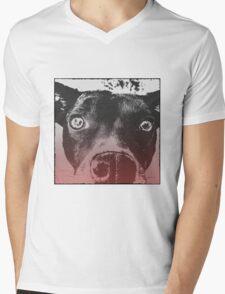 Monochrome Pop Art Dog Mens V-Neck T-Shirt