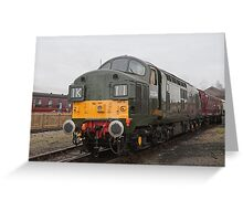 British Rail class 37 diesel-electric Locomotive Greeting Card