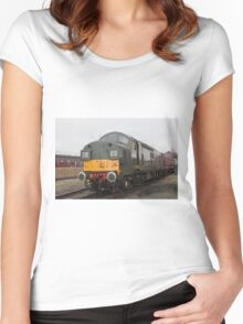 British Rail class 37 diesel-electric Locomotive Women's Fitted Scoop T-Shirt