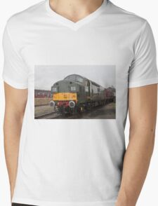 British Rail class 37 diesel-electric Locomotive Mens V-Neck T-Shirt