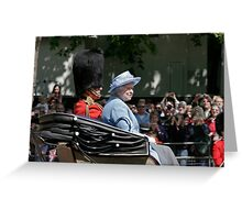 The Queen biting her lip!  Greeting Card