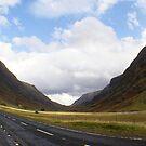 entering Glencoe, Highlands by BronReid