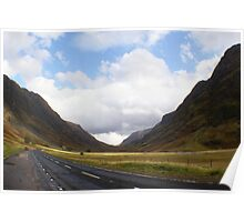 entering Glencoe, Highlands Poster