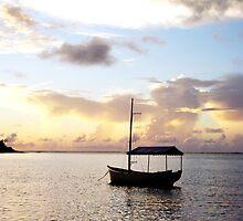 Muri sunset - Muri Lagoon, Rarotonga by Jenny Dean