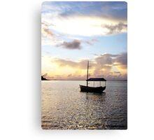 Muri sunset - Muri Lagoon, Rarotonga Canvas Print