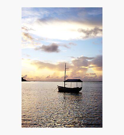 Muri sunset - Muri Lagoon, Rarotonga Photographic Print
