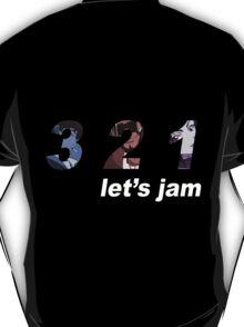 cowboy bebop 3 2 1 lets jam spike faye jet anime manga shirt T-Shirt