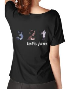 cowboy bebop 3 2 1 lets jam spike faye jet anime manga shirt Women's Relaxed Fit T-Shirt